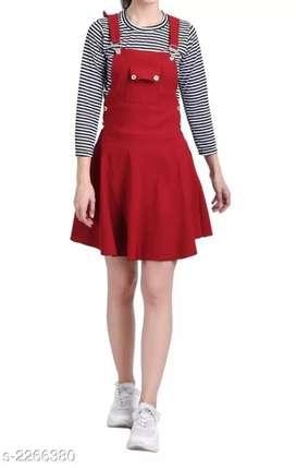Myhra Trendy Cotton Lycra Women's Dungaree Dresses