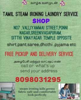 Tamil steam ironing service