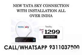 NEW TATA SKY CONNECTION WITH INSTALLATION START RS 1299