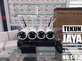 PROMO Terbaik CCTV Wireless NVR Kit HKM 4ch Outdoor
