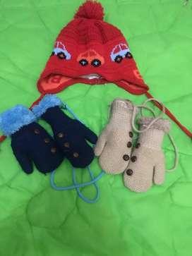 kupluk dan sarung tangan