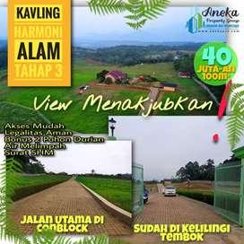 Dijual Tanah Kavling 500m2 Pinggir Jalan Paling Ajib View nya