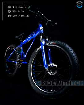 TCH SHARK FAT TYRE BICYCLE WITH 21SHIMANO GEAR COMBINATION