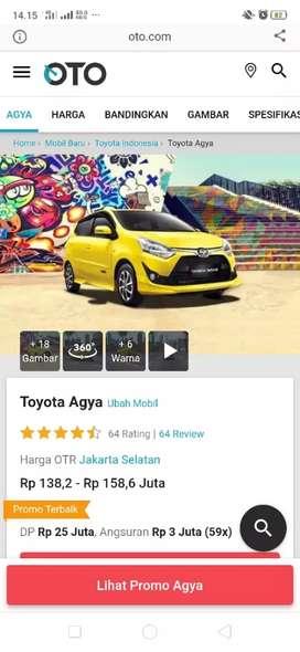 mobil Toyota Agya baru Agt 2019