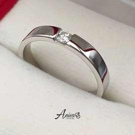 Single ring bahan platinum model cantik