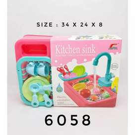 Mainan Wastafel Cuci Piring Elektrik (Keluar Air) | Kitchen Sink Murah