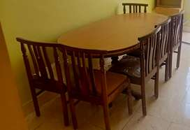 Sheesham wood six seater dining