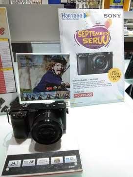Kamera Sony A6000 ready stock cicilan tanpa kartu kredit bisa