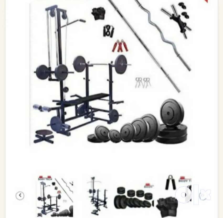 Brand new 100kg home gym setup, 2 months old 0