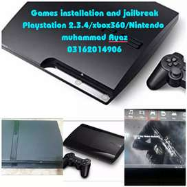 Games installation jailbreaking available ps2/ps3/xbox 360