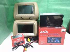 Paket doubledin tv camera headrest mulai harga 900rbu berikut pasang