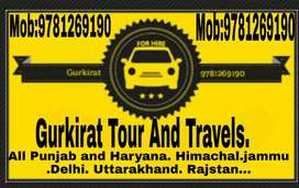 Gurkirat tour and travels to all Punjab and Haryana up Himachal etc