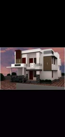 4 b h k duplex house for sale in kavoor Gadhinagara
