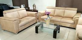 Italian headrest Sofa set 3s + 2s + divider