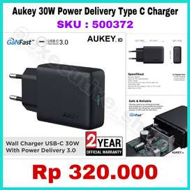 Aukey 30W Power Delivery Type C Charger - SKU : 500372