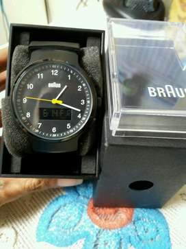 braun men's watch analog+digital