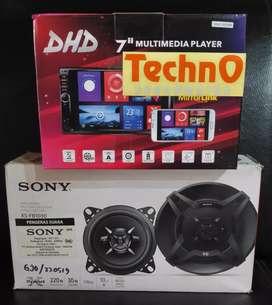 Tv mp4 YouTube + Paket Sound Sony speaker grosir tape for window