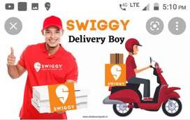 ,@HIRING FOR SWIGGY FOOD DELIVERY BOYS AT MANIKONDA@