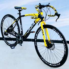 Roadbike Sports Cycle with 21 Speed Gears & Downhandle: 26T