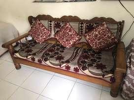 5 Seater Teak Wood Sofa