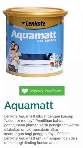 Cat lenkote aquamatt 5kg Super white