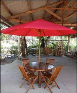 Meja payung,kursi taman,meja taman jati,meja cafe,meja outdoor