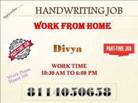 Work from home Handwriting NOTE MAKING HOME JOB