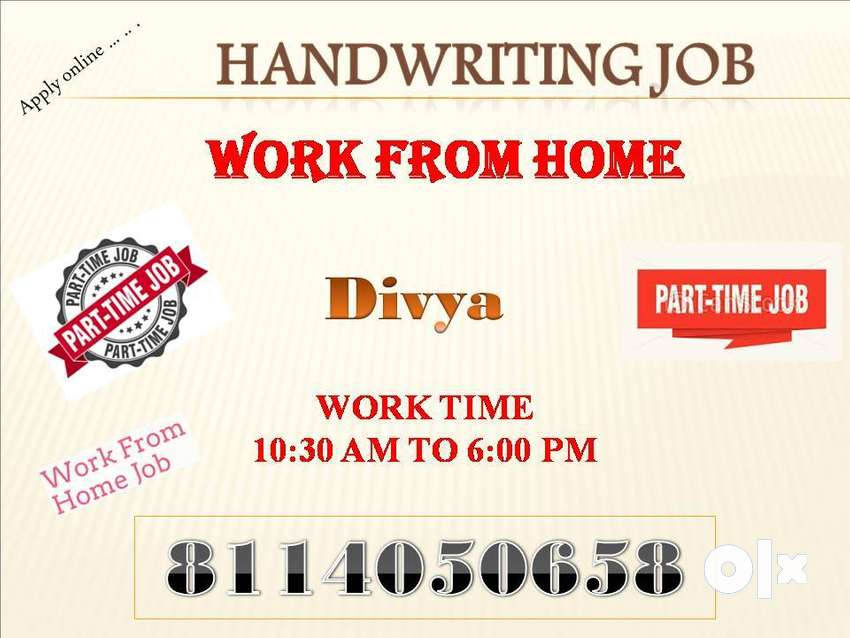 Work from home Handwriting NOTE MAKING HOME JOB 0