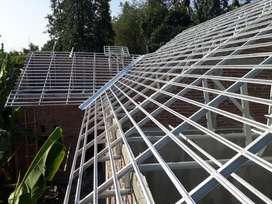 rangka atap baja ringan, genteng Metal, Kanopi Galvalum