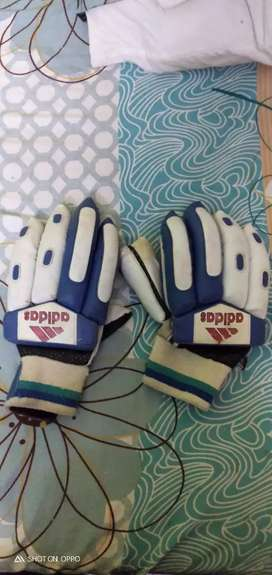 Adidas batsman gloves blue and white