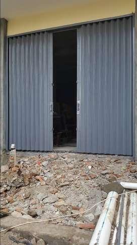 Folding gate berkualitas rolling door Harmonika murah