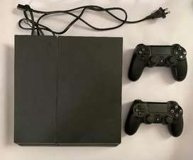 PS4 500 GB  with 2 Controllers and Games