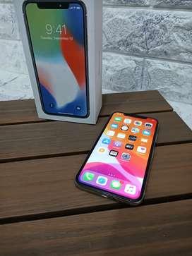 iPhone X 64Gb warna Silver Like New Inter Ori