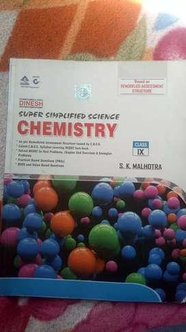 Class 9 chemistry book . Publisher DINESH . Writer S K Malhotra .
