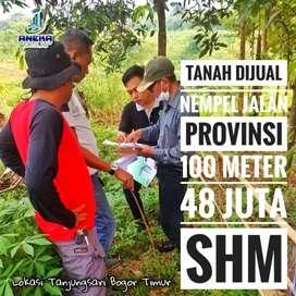 Jual Tanah Kavling, Surat SHM Nempel Jalan Raya Provinsi