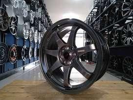 for sale velg HSR GTR SPORT ring17x7,5 pcd8x100/114,3 bisa credit/TT