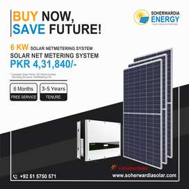 6 KW-Solar Net Metering System, Powered With Canadian Solar Panels