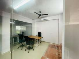 Single cabin furnished office on rent