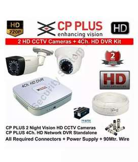 2  cp plus camera set new and branded , installation and services