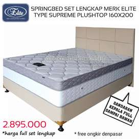 Spring Bed set lengkap merk elite type supreme 160X200|ANEKA KASUR