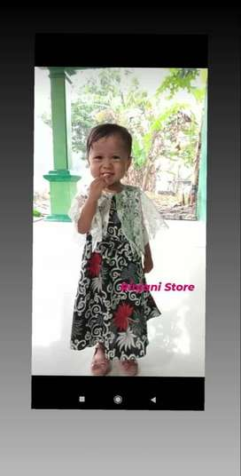 Dress Anak Brukat - Gaun Pesta Anak Cantika