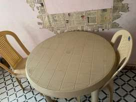 Dining table and a shoe rack