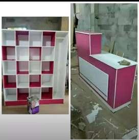 rak laundry dan meja kasir minimalis DO