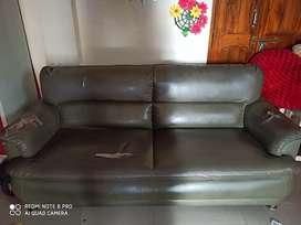 Green colour sofa set