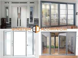 Pintu Jendela Kusen Kaca Kasa Nyamuk Aluminium Geser Sliding Lipat Kri