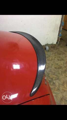 Carbon fibre boot lip spoiler