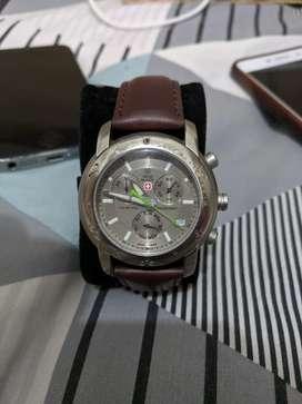 jam tangan pria Swiss Military Chronograph swiss army Titanium 9808