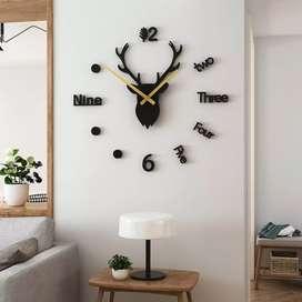 Jam Dinding 3D DIY Giant Wall Clock Quartz Creative Design Model
