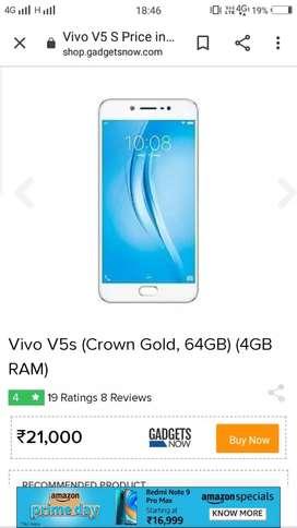 Vivo V5s ony 5500/- looking osm phone
