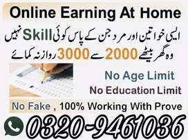 Online and office base work for male and female